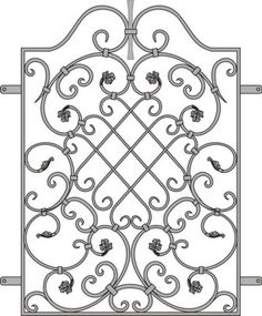 Wrought Iron Decor, Wrought Iron Gates, Iron Windows, Iron Doors, Metal Drawing, Tuscan Design, Tuscan Style, Iron Gate Design, Metal Bending