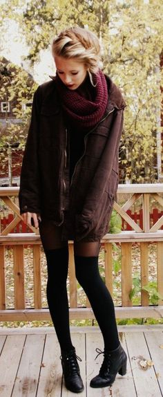 #winter #fashion / burgundy