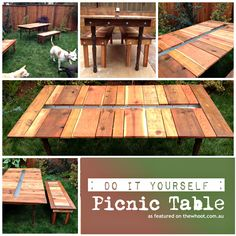 DIY Picnic Table | TheWHOot