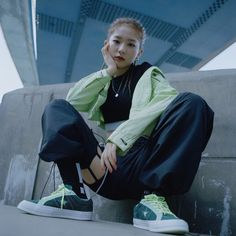 Seulgi was chosen as the Model for Converse's One Star Carnival Collection. Seulgi is the first FEMALE Model of Kang Seulgi, Red Velvet Seulgi, Converse One Star, Poses, Peek A Boos, Pop Fashion, Fashion Outfits, Korean Girl Groups, Girl Crushes