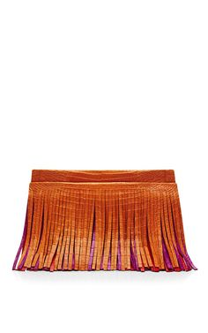Multi Three Belly Fringe Shoulder Bag by Nancy Gonzalez for Preorder on Moda Operandi