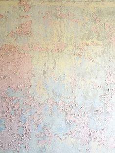 pretty pastel peeling wall paint