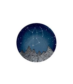 Orion Constellation // Nursery art // Fine Art Print // Orion and the Blue Ridge Mountains