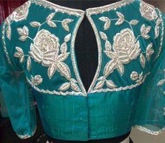 Designer Blouse back design. tansi Couture.