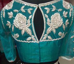 Designer Blouse back design. tansi Couture.
