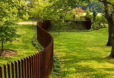Sculptural fence