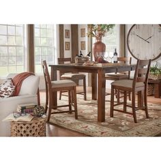 Maddox Rustic Counter Height Burnished 7-piece Extending Dining Set by iNSPIRE Q Classic