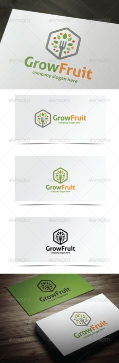 Grow Fruit — Vector EPS #fork #design • Available here → https://graphicriver.net/item/grow-fruit/8197121?ref=pxcr
