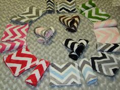 CHEVRON Carseat Strap Covers YOU choose by tarascozycreations