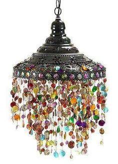Beads Lamp Hanging pendant lamp Hanging pendant light with beads boho lamp Bohemian lamp Ceiling light Beaded light from Turkish Delight exotic decor. Gypsy Decor, Gypsy Style, Bohemian Gypsy, Bohemian House, Boho Life, Bohemian Clothing, Hippie Style, Bohemian Style, Boho Chic