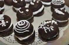 Prajitura cu mousse de visine — Alina's Cuisine Creme Caramel, Whoopie Pies, Marshmallow, Mousse, Muffin, Cookies, Breakfast, Desserts, Food
