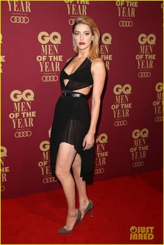 Amber Heard Celebrates Australia's Vote to Legalize Same Sex Marriage at GQ Men of the Year Awards!