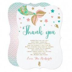 Thank You Card Baby Showerthank You Card Baby Shower Awesome Custom