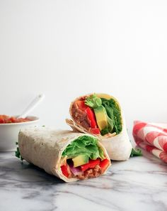 REFRIED BEAN & AVOCADO LAVASH WRAP... Nothing fancy, just the simples!