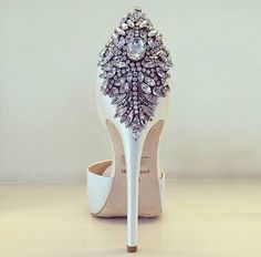 Words cannot describe how gorgeous this heel really is. Perfect wedding heels  sparkle