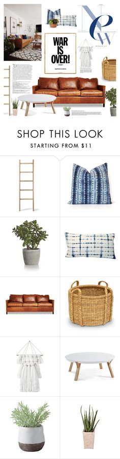 """War is Over"" by fyenksfiona on Polyvore featuring interior, interiors, interior design, home, home decor, interior decorating, Garden Trading, Balmain, Crate and Barrel and Palecek"