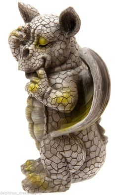 Bashful Baby Dragon With hand Over Eye Home Or Garden Ornament