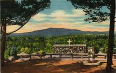 Postcard - Cathedral of Pines Rindge, New Hampshire - Alter