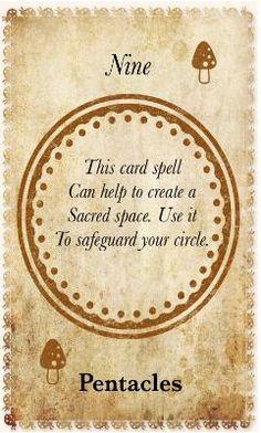 White Magic Tarot Spell Cards - 9 Pentacles