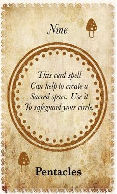 White Magic Tarot Spell Cards - 9 Pentacles