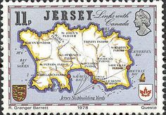 "Jersey 11p 1978 ""William Pless Map  ~ 1817"""