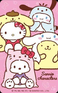 Sanrio costumes (=´∀`) Sanrio Wallpaper, Hello Kitty Wallpaper, Kawaii Wallpaper, Wallpaper Iphone Cute, Cute Wallpapers, Hello Kitty Pictures, Kitty Images, Hello Kitty Characters, Sanrio Characters