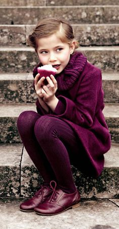 Beautiful raspberry colored outfit~Image © Baby Dior ... Cute outfit for NAYELI and love the autumn color ❤️