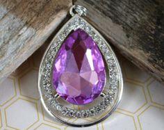 New Lower Price- Sofia the First Amulet, Purple Amulet of Avalor, Sofia Pendant, Sofia Cabochon, Sofia Beads, Princess Sofia Dress Up