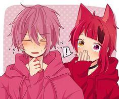 Anime Animals, Anime Couples, Boy Or Girl, Cool Art, Anime Art, Kawaii, Fan Art, Boys, Cute
