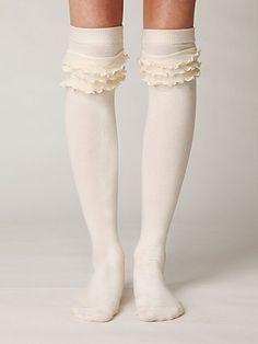boot socks with ruffle. Omg I need these..