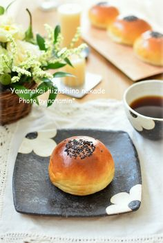 Anpan, Japanese sweet buns filled with red bean paste あんぱん