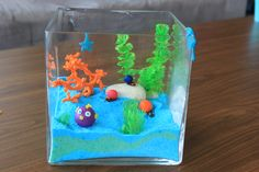 Under the sea themed centrepiece for Rachel's baby shower