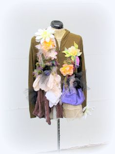 One of a Kind Shabby Chic Romantic Embellished by JacketsbyJahne, $200.00