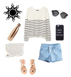 """""""Beachy"""" by michaelas22 ❤ liked on Polyvore featuring MANGO, Ancient Greek Sandals, Under One Sky, Christian Dior and S'well"""