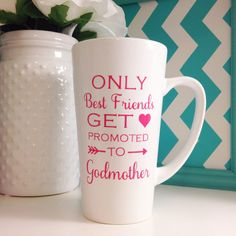 Only Best Friends Get Promoted To Godmother by ShoweredWithDesign