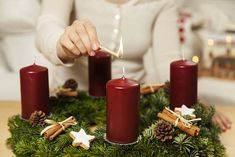 Our Irish Christmas Traditions - What are Yours? - A Letter from Ireland: White Candles, Pillar Candles, Homemade Christmas, Red Christmas, Irish Christmas Traditions, Christmas In Ireland, Christmas Candle Decorations, Advent Season, Traditional Decor