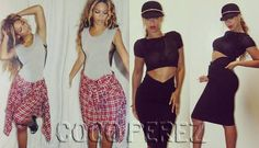 Beyoncé flashes her curves with two fearless ensems!