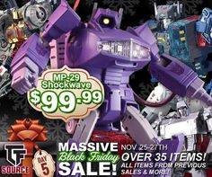 TFSource Black Friday Sale - Save BIG on Transformers and More!