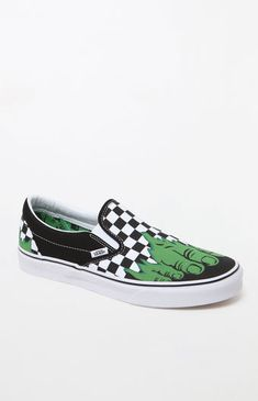 deb2797befb033 Vans x Marvel Hulk Checker Classic Slip-On Shoes