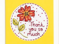 Free 'Thank you' chart! | Free Chart | Cross Stitching