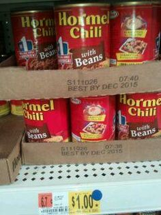 Hormel Chili Only $.73 at Walmart