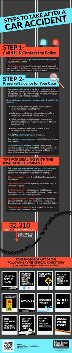 Steps to Take After a Car Accident - an infographic devoted to helping you know what to do after a car accident to protect your legal rights and your financial security. Reosurce: www.massachusettspersonalinjurylawlawyer.com www.rhodeislandpersonalinjuryattorneyblog.com
