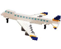 Buckle your seats for takeoff! If you love building model cars and trains, try making this 747 to add to your collection. Make all the airplane pieces using Perler Fun Fusion Beads and then piece them together using the easy step-by-step directions. Make them in different colors and create an airplane fleet!
