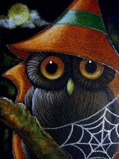 Google Image Result for http://www.ebsqart.com/Art/Gallery/Colored-Pencils-Pastels-Glitter/660766/650/650/FANTASY-WITCH-OWL-SPIDER-WEB.jpg