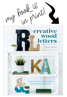 Creative Wood Letters: 35 Simple Craft Projects for Decorating Your Home Diy Christmas Lights, White Christmas, Christmas Diy, Christmas Decorations, Christmas 2019, Holiday, Easy Crafts, Easy Diy, Decor Crafts