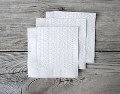 Do It Yourself (DIY) Party Napkins Using Embossing Folders