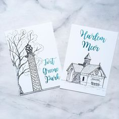 A lot of couples who use our city collections for their weddings like to add on a few custom drawings of places that are special to them, which is what I'm doing for my own wedding (Christy here!) I lived near fort Greene park when I first moved to NYC, a