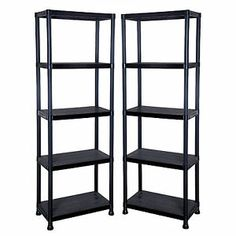 4 & 5 Tier Metal / Plastic Shelving Unit Storage Garage Racking Shelf Shelves