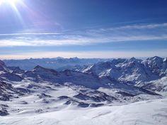 The Alps behind the Mont Cervin (Matterhorn).