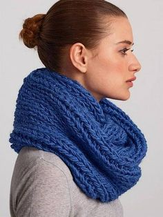 Snood knitting pattern from Bergere De France 181 Generation Y knits: get it at Laughing Hens